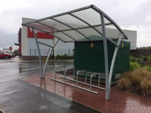 Bespoke bike minder and Shelters